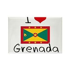 I HEART GRENADA FLAG Rectangle Magnet