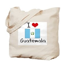 I HEART GUATEMALA FLAG Tote Bag