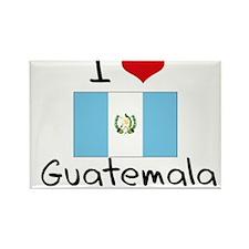 I HEART GUATEMALA FLAG Rectangle Magnet