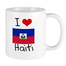 I HEART HAITI FLAG Mug