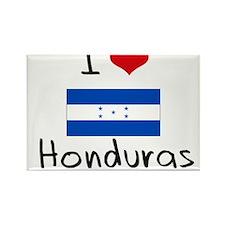 I HEART HONDURAS FLAG Rectangle Magnet