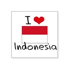 I HEART INDONESIA FLAG Sticker