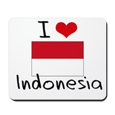 I HEART INDONESIA FLAG Mousepad