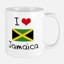 I HEART JAMAICA FLAG Mug