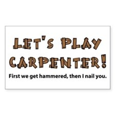Let's Play Carpenter Rectangle Decal