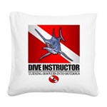 Dive Instructor (Marlin) Square Canvas Pillow