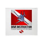 Dive Instructor (Marlin) Throw Blanket