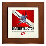 Dive Instructor (Marlin) Framed Tile