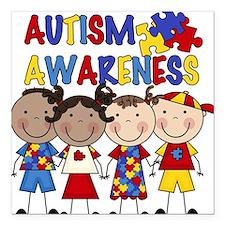 "Autism Awareness Square Car Magnet 3"" x 3"""