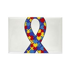 Autism Awareness Ribbon Rectangle Magnet