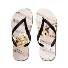 Flute and Music Flip Flops
