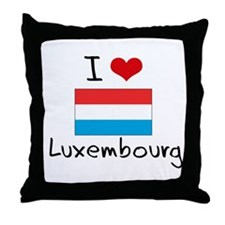I HEART LUXEMBOURG FLAG Throw Pillow