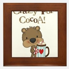 Boy Bear Crazy for Cocoa Framed Tile