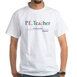 Education p.e Mens White T-shirts