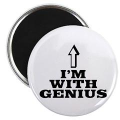 I'm with genius Magnet