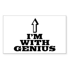 I'm with genius Sticker (Rectangle)
