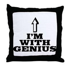I'm with genius Throw Pillow