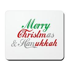 Merry Christmas and Hanukkah ~ Mousepad