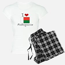 I HEART MADAGASCAR FLAG Pajamas