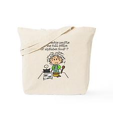 Illiterate People Humor Tote Bag