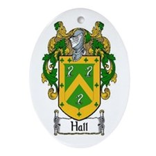 Hall Coat of Arms Oval Ornament