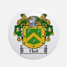 Hall Coat of Arms Ornament (Round)