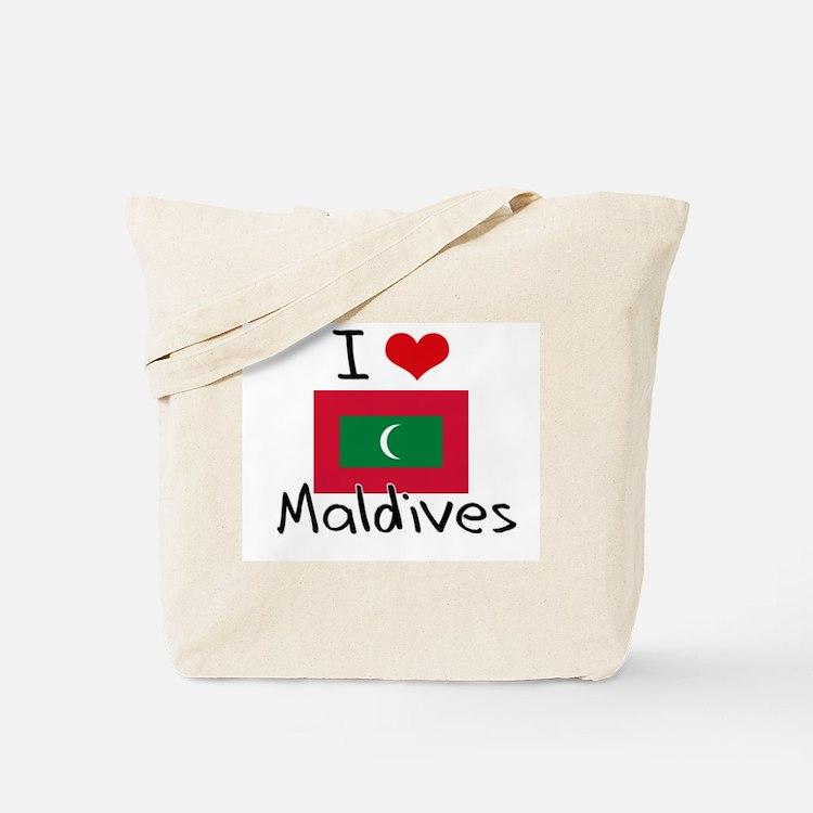 I HEART MALDIVES FLAG Tote Bag