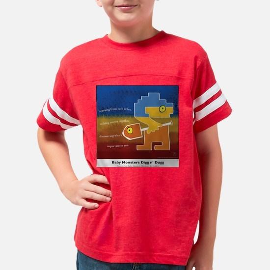 3-bm digg colored Youth Football Shirt