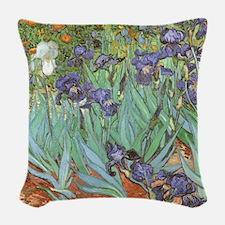 Van Gogh Irises Woven Throw Pillow