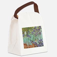 Van Gogh Irises Canvas Lunch Bag