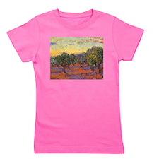 Van Gogh Olive Grove Orange Sky Girl's Tee