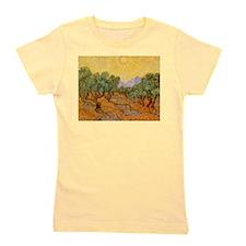 Van Gogh Olive Trees Yellow Sky And Sun Girl's Tee