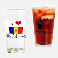 I HEART MOLDOVA FLAG Drinking Glass