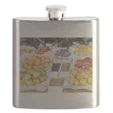 Fruit Stand by Caillebotte Flask