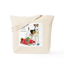 Merry Little Fox Terrier Tote Bag