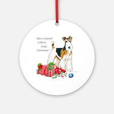 Merry Little Fox Terrier Ornament (Round)