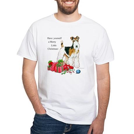 Merry Little Fox Terrier White T-Shirt