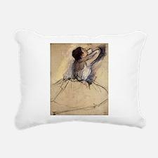 The Dancer by Edgar Degas Rectangular Canvas Pillo