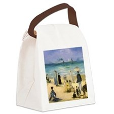 Manet, Beach at Boulogne Canvas Lunch Bag