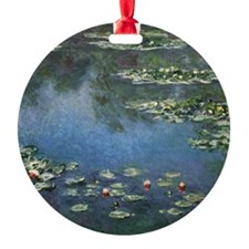 Waterlilies by Claude Monet Round Ornament