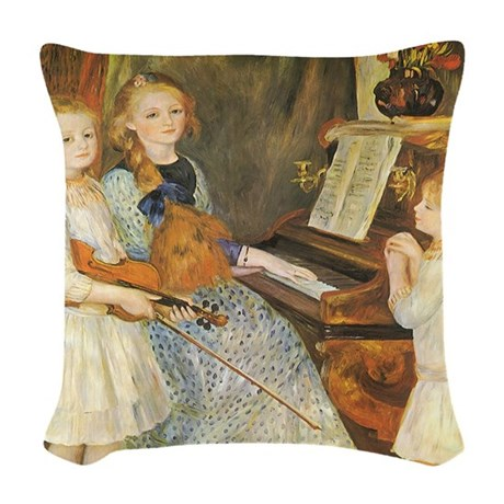 Renoir Daughters of Catulle Mendes Woven Throw Pil