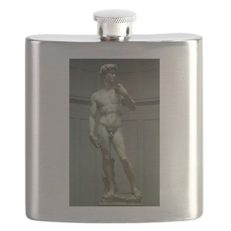 Statue of David by Michelangelo Flask