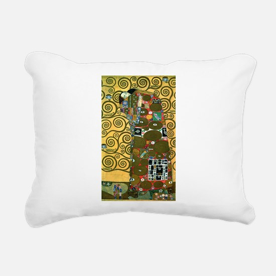 Fulfillment by Gustav Klimt Rectangular Canvas Pil