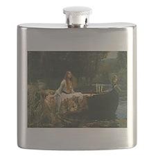 Lady of Shalott by JW Waterhouse Flask