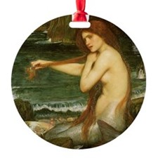 Mermaid by JW Waterhouse Ornament