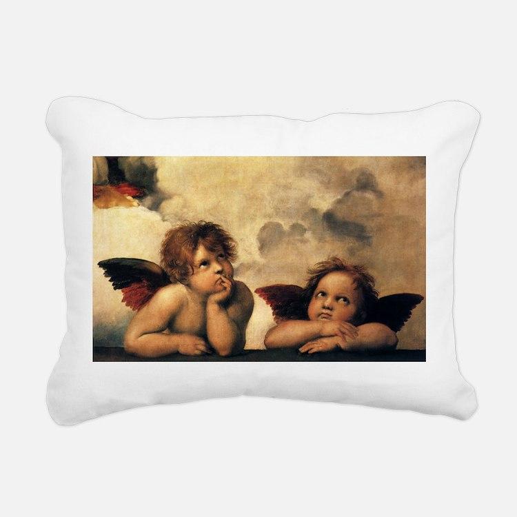 Angels by Raphael Rectangular Canvas Pillow