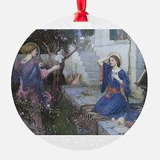 Annunciation by JW Waterhouse Ornament