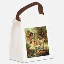 Victorian Angels by Zatzka Canvas Lunch Bag