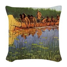 Great Explorers by Remington Woven Throw Pillow
