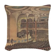 Currier & Ives Reproduction Woven Throw Pillow